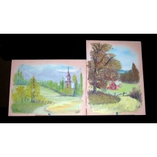 """Pair of small Autumn paintings"""