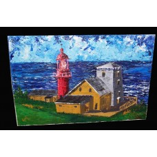 """Lighthouse at Pointe a la Renommee in Gaspesie"""