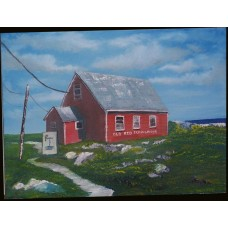 """Old Red Schoolhouse, Peggy's Cove"""